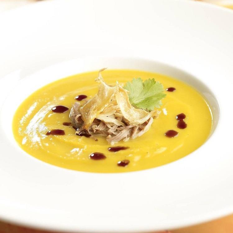 Видеорецепт из гуся - Имбирный суп с гусем