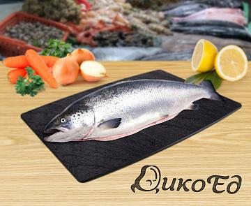 ? Купить кету свежемороженую в Иркутске: цена за кг 750 р - замороженная не потрошеная рыба с головой в интернет-магазине Дикоед